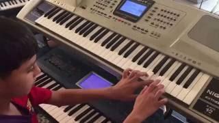 دحية- أول محاولة عزف دحية لطفل فلسطيني