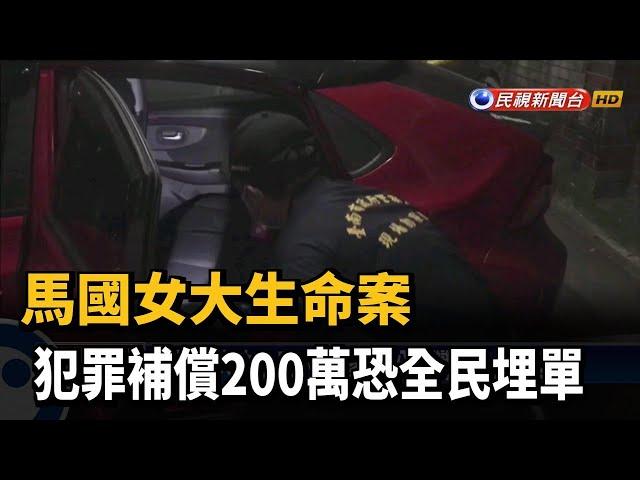 馬國女大生命案 犯罪補償200萬恐全民埋單-民視台語新聞