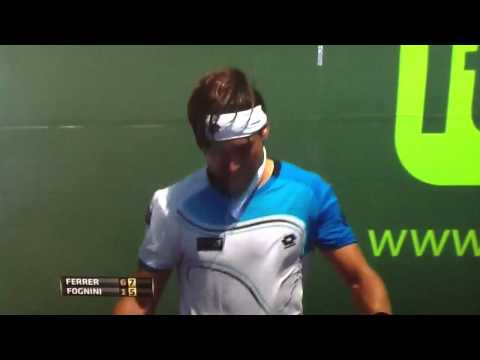 David Ferrer vs Fabio Fognini Miami 2013 3R Match Point HD