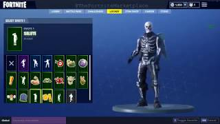 FORTNITE ACCOUNT FOR SALE (SKULL TROOPER)(SCYTHE)(LOVE WINGS)