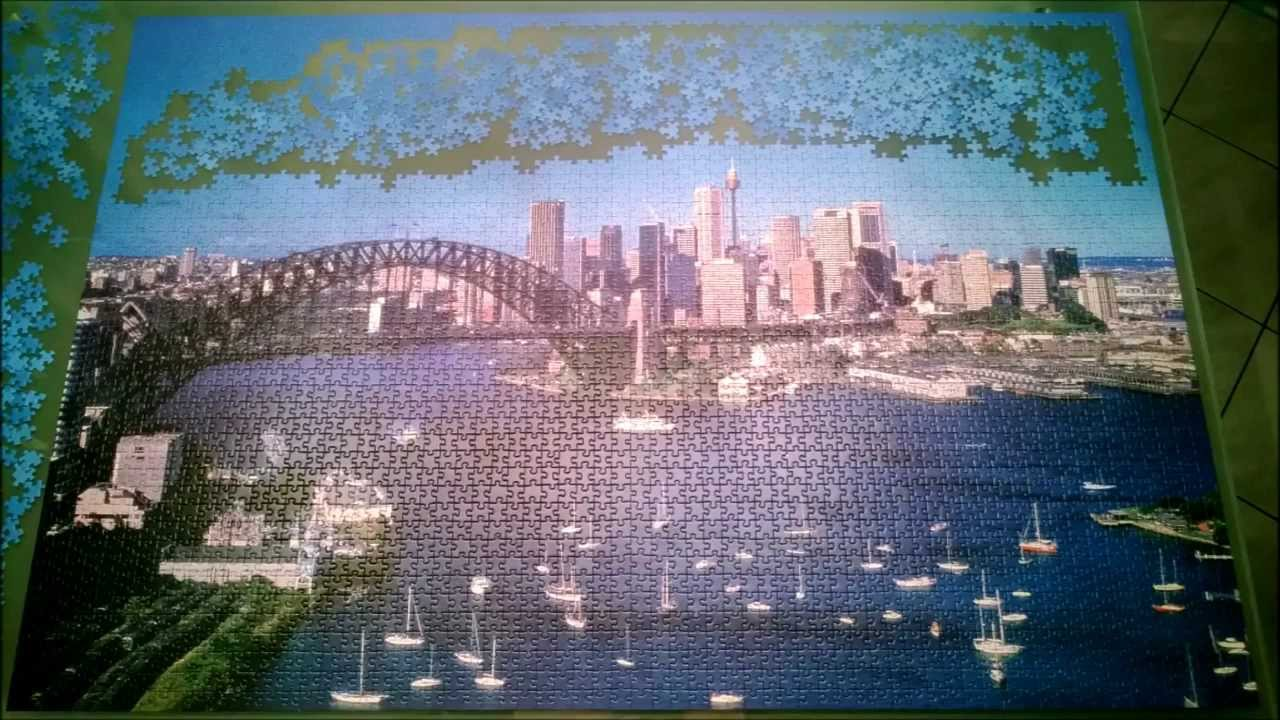 sydney puzzle 3000 pieces built in 3 months youtube