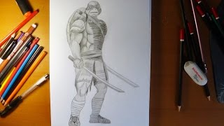 How to draw ninja turtles Leonardo from movie 2014