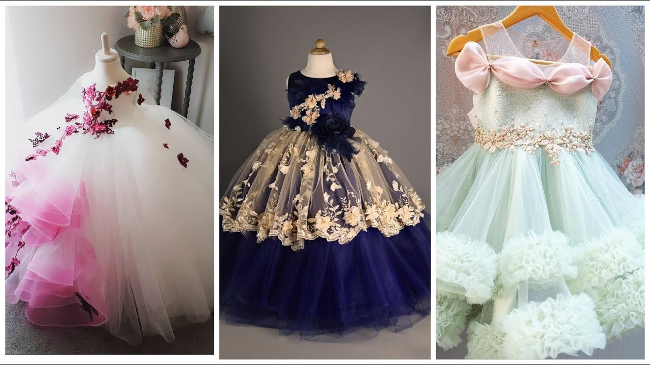 ee9c0ec77bb2 Latest Stylish Floral Maxi Dress Design Ideas For Baby Girls - YouTube