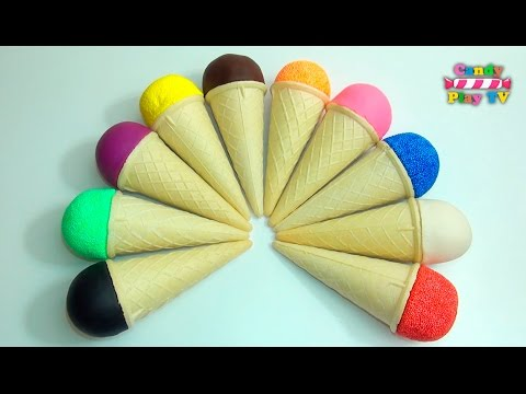 Thumbnail: Play-Doh Ice Cream Cone | Learn Colours with Squishy Glitter Foam | Learn Colors With Glitter Putty