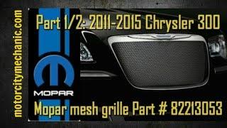 Part 1/2: Chrysler 300 Mopar mesh grille Part # 82213053