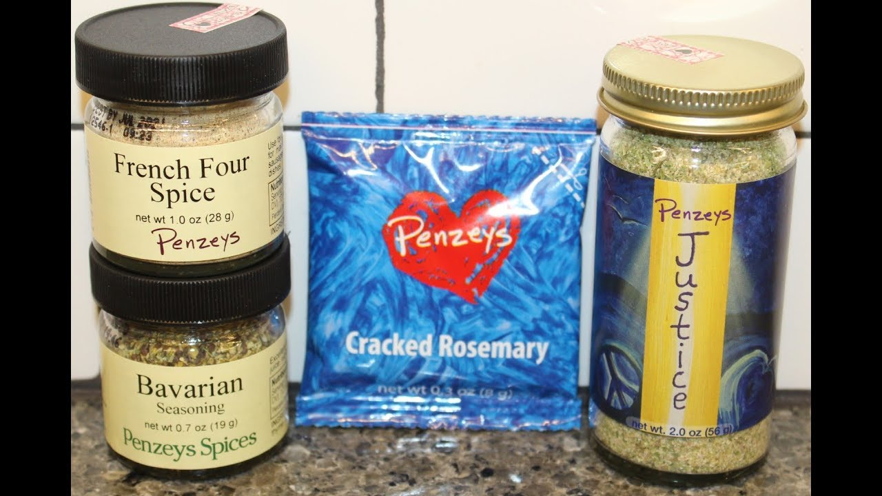 Penzeys Spices Seasoning: French Four Spice, Bavarian Seasoning, Cracked  Rosemary & Justice Review