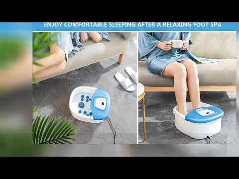 Entil Heated Foot Spa Bubble Massager And Rollers With 12 Customer Answered Questions