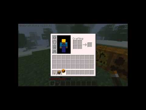 Minecraft How To Craft Pumpkin Jack-o-lantern Mask New Item (new Block) Halloween Update