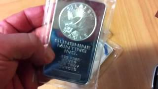 Sunshine Minting 10 oz silver bars