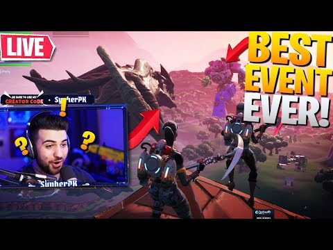 *INSANE* MONSTER VS ROBOT EVENT REACTION! ft. Ninja & TSM Myth (Fortnite Battle Royale - Live Event)