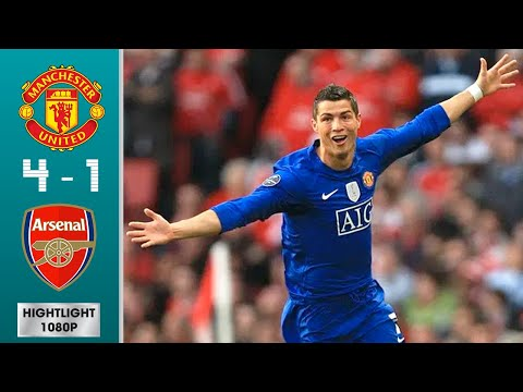 Download Manchester United vs Arsenal 4-1 (agg) Highlights & Goals - Semi-finals | UCL 2008/2009 | 1080p HD