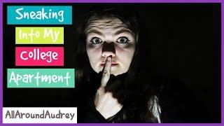 SNEAKiNG iNTO MY COLLEGE APARTMENT Don't Get Caught Challenge / AllAroundAudrey