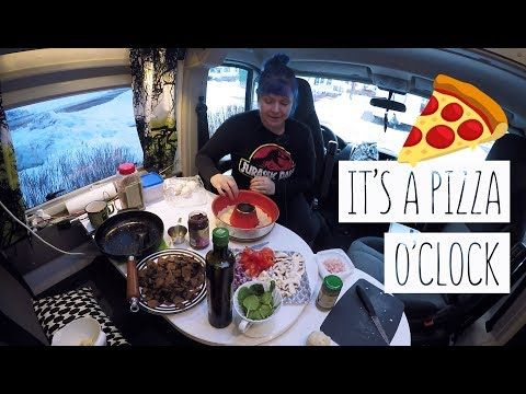 COOKING PIZZA IN A VAN |  Compact Kitchen