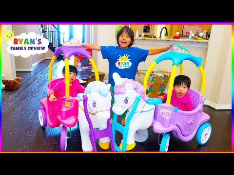 Download Youtube: Little Tikes Magical Unicorn Carriage Ride On + Princess Horse and Carriage