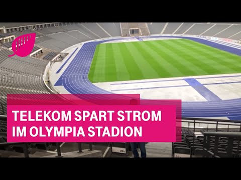 Social Media Post: Telekom spart Strom im Olympia Stadion