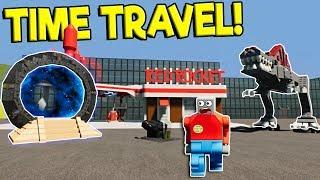 LEGO DINOSAUR ATTACKS TIME TRAVELER! - Brick Rigs Gameplay Challenge - Lego Time Travel Survival