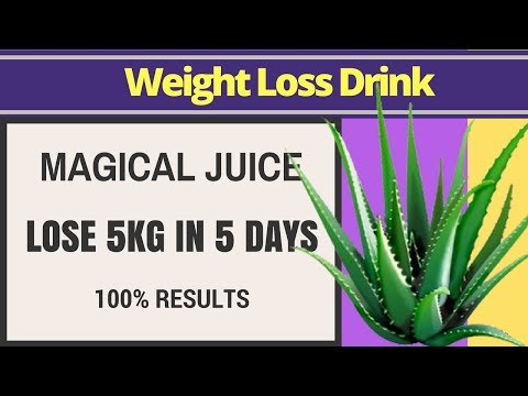 Reduce Belly Fat Fast With Aloe Vera Juice - 5kg | Weight Loss Drink For Fast Weight Loss