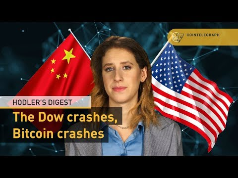 The Dow Crashes, Bitcoin Crashes | Hodler's Digest