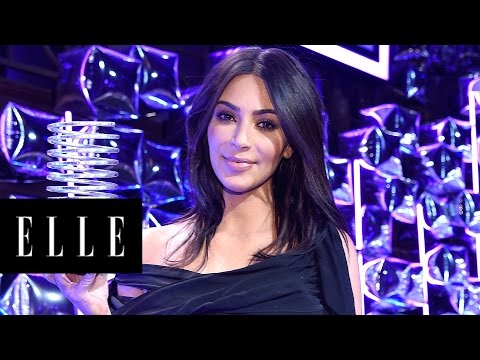 Kim Kardashian Accepts the 'Break the Internet' Award  | ELLE