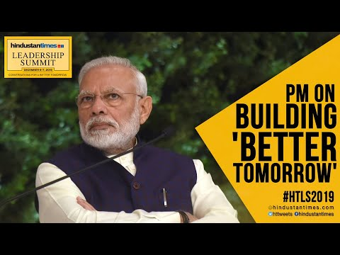 PM Modi on building a 'better tomorrow' for India at HTLS 2019