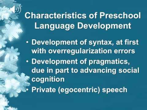 Preschool Language Development