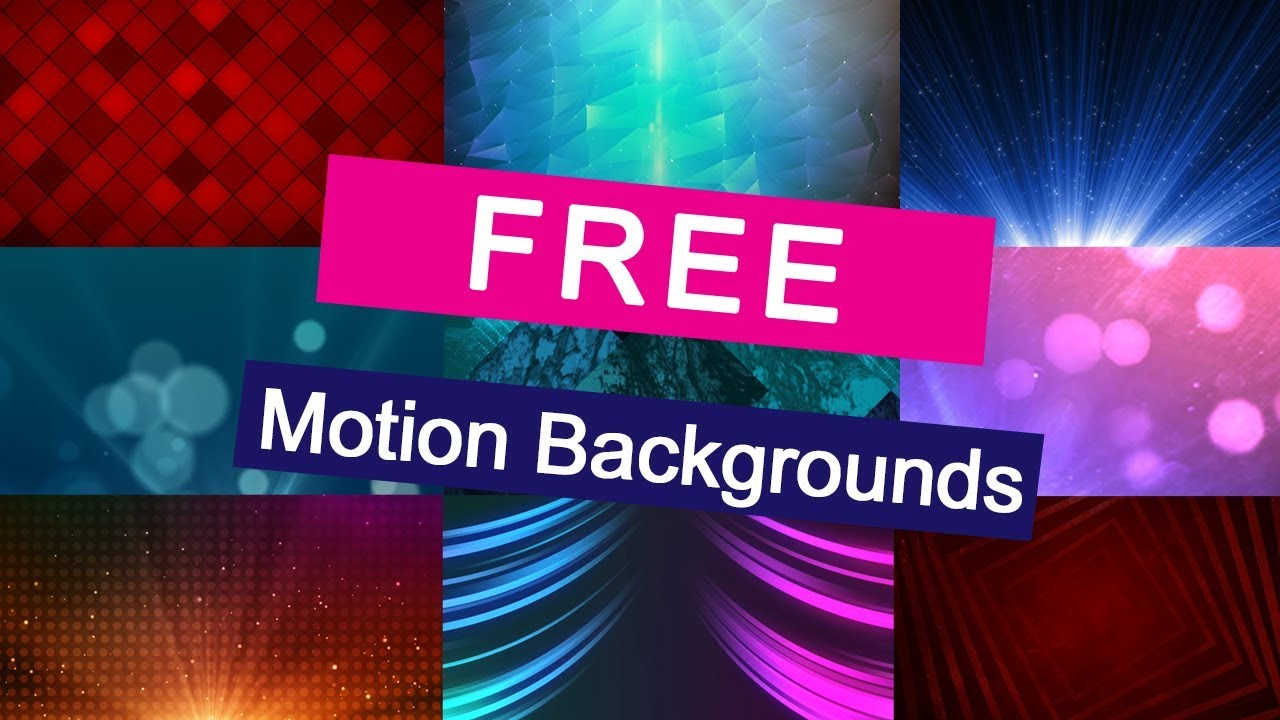 Free Motion Backgrounds - YouTube