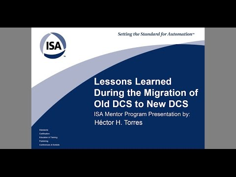 DCS Migration Project - Lessons Learned - ISA Mentor Program