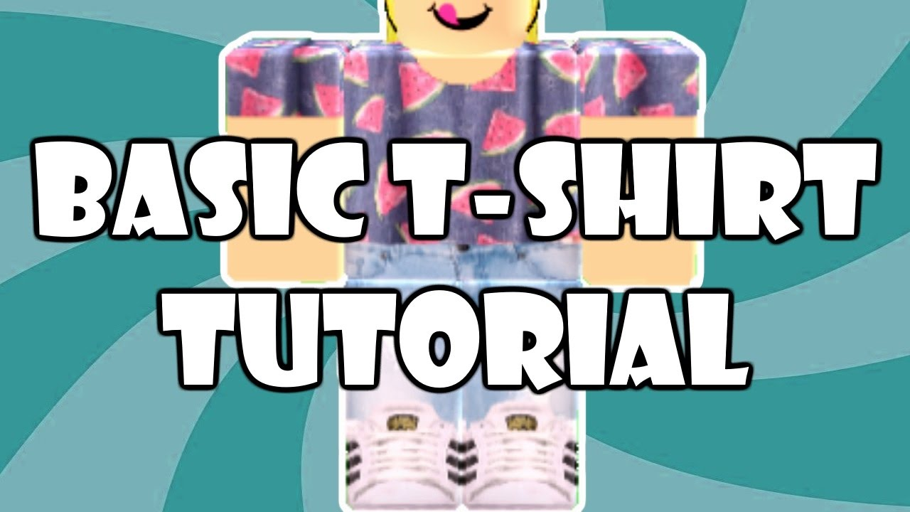 How To Make A Basic T Shirt Roblox Youtube