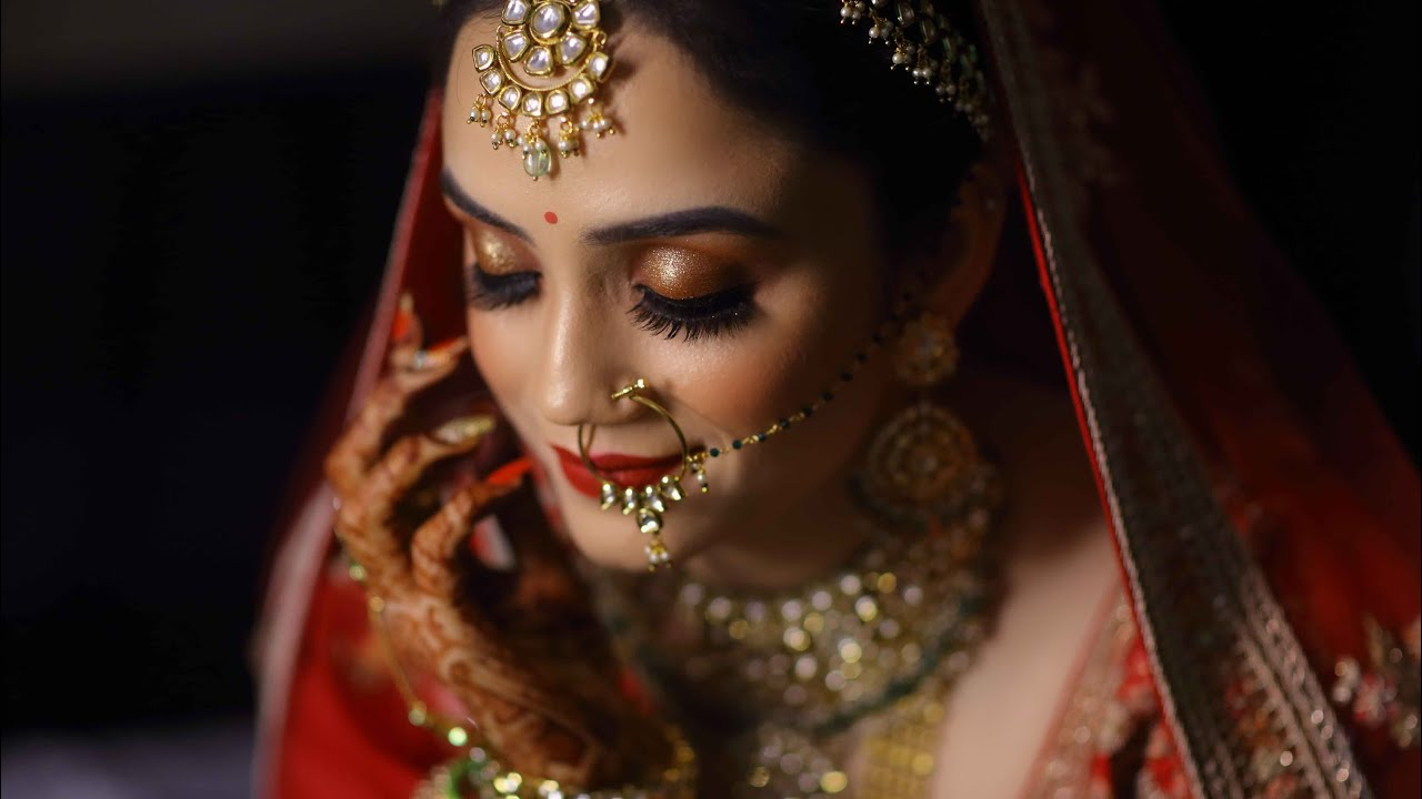 Traditional Indian Bride with Red Lips ! Makeup by Parul Garg