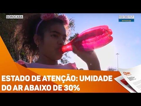 Estado de atenção: Umidade do ar abaixo de 30% - TV SOROCABA/SBT