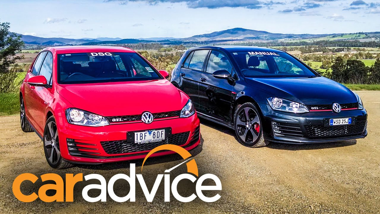 volkswagen golf gti comparison manual v dsg youtube. Black Bedroom Furniture Sets. Home Design Ideas