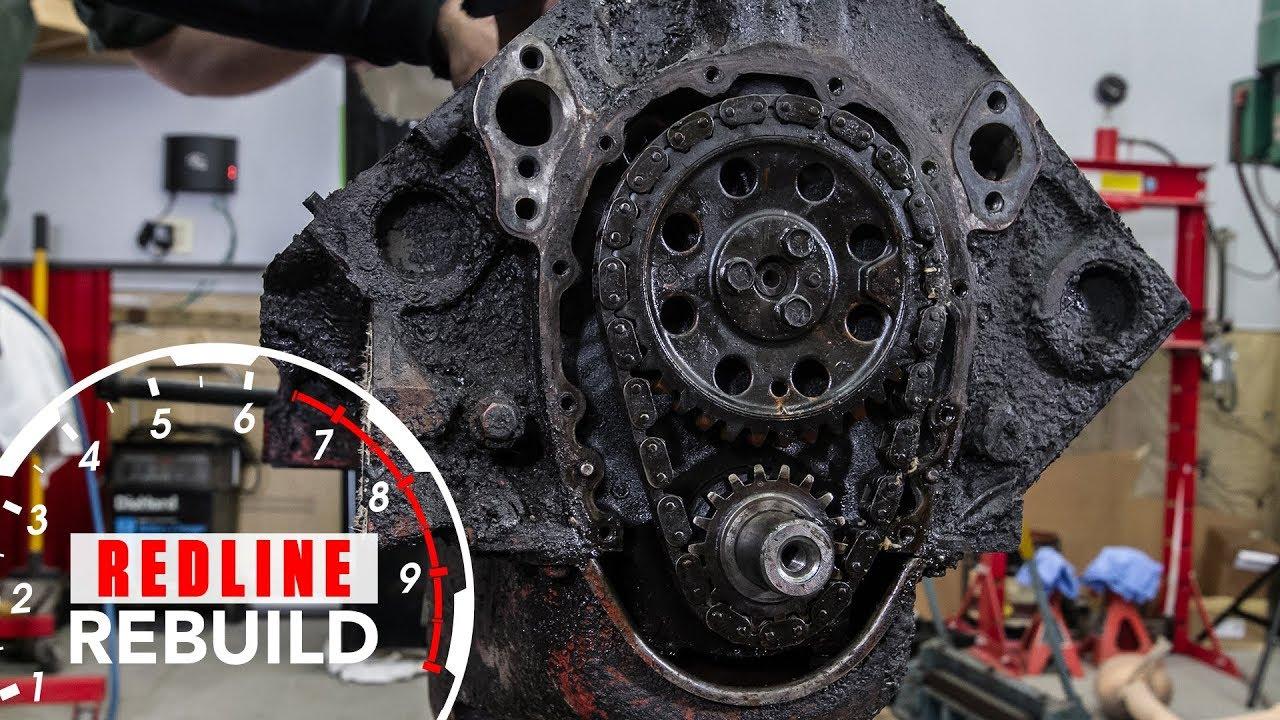 medium resolution of chevy small block v8 engine rebuild time lapse redline rebuild s1e1