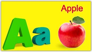 a for apple abc song nursery rhymes poems for kids