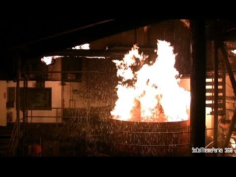 [HD] Backdraft Fire Attraction - Warehouse Fire - Universal Studios Hollywood