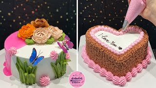 This is Art Cake Decorating Tutorials For Occasion | Flower Cake Decorating Ideas | Cake Desserts