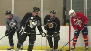 Carolina prospect sizes up Crosby, Marchand & MacKinnon