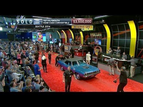 MECUM SOLD $3.5 Million - 1971 Plymouth Hemi Cuda Convertible