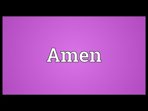 Amen Meaning