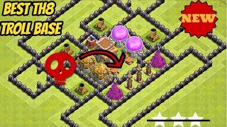 Best CoC TH8 Troll Base Ever | w/ Funny Fail Replays | Town Hall 8 | ...