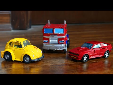 Transformers War for Cybertron: Earthrise Optimus Prime, Cliffjumper, Bumblebee Animation Robot Toys
