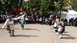 Santa Fe Indigenous Day Commemoration 2018 - Zuni Eagle Dance Group