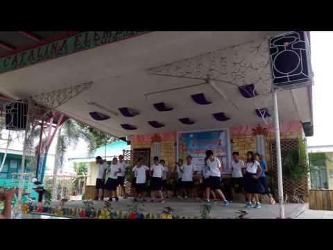 Tatlong bibe dance in sta. Catalina elementary school