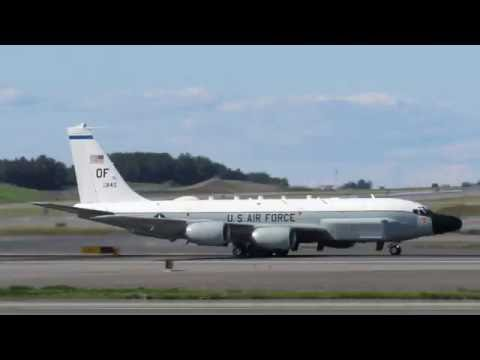 RC-135 Rivet Joint [64-845] Departing Ted Stevens Anchorage International Airport