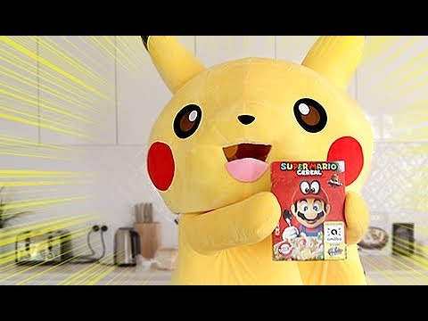 Download Youtube: PIKACHU Tries MARIO Cereal