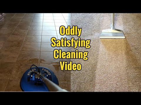 Oddly Satisfying Cleaning Video - Carpet & Tile Cleaning