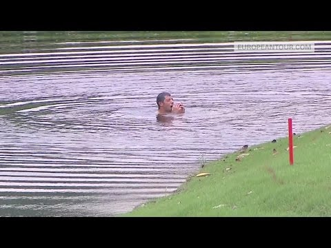 Pablo Larrazabal Escapes Hornets By Jumping Into A Lake