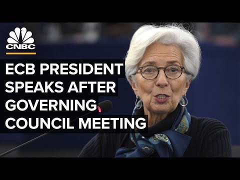 ECB's Christine Lagarde speaks following decision to hold interest rates – 3/12/2020