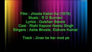 Jeevan Ke Har Mod Pe - Jhootha Kahin Kaa - with female voice - Full Karaoke