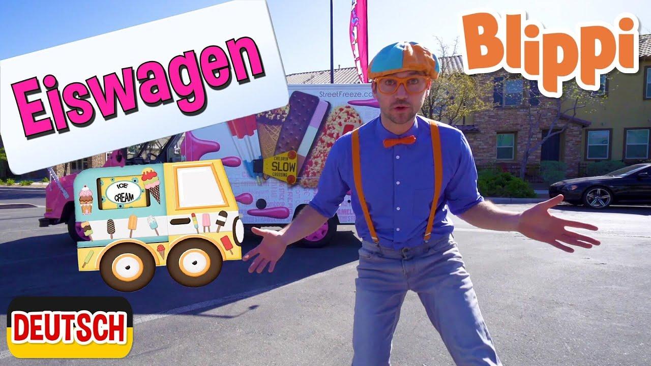 Blippi Deutsch - Blippi erkundet einen Eiswagen   Abenteuer und Videos für Kinder
