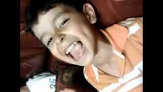 boy singing to alvin and the chipmunks boom boom pow